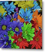 Colorful Petals Metal Print