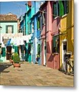Colorful Piazza Metal Print