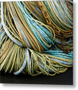 Colorful Pile Of Fishing Nets And Ropes Metal Print