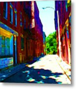Colorful Place To Live Metal Print by Julie Lueders
