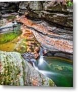 Colorful Pool In The Gorge Of Watkins Glen Metal Print