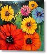 Colorful Poppy Warm No.1 Metal Print