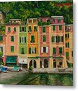 Colorful Portofino Metal Print by Charlotte Blanchard