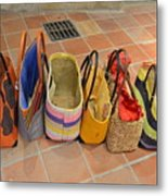 Colorful Purses Metal Print