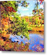 Colorful Reflections Metal Print by Kristin Elmquist