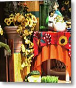 Colorful Restaurant Bucerias Metal Print