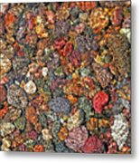 Colorful Rocks In Stream Bed Montana Metal Print