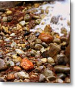Colorful Rocks With Waterfall Metal Print