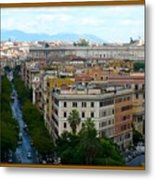 Colorful Rome Cityscape Metal Print