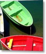 Colorful Rowboats Metal Print