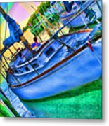 Colorful Sailboat Metal Print
