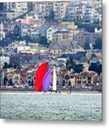 Colorful Sails Metal Print