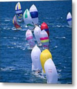 Colorful Sails In Ocean Metal Print by Sharon Green - Printscapes