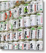 Colorful Sake Casks Metal Print by Bill Brennan - Printscapes
