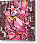 Colorful Scrap Metal Metal Print