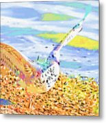 Colorful Seagull Metal Print