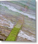 Colorful Seawall Metal Print