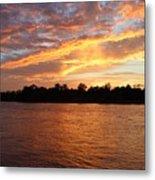 Colorful Sky At Sunset Metal Print