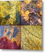 Colorful Slate Tile Abstract Composite Sq1 Metal Print