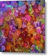 Colorful Spring Garden Metal Print