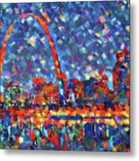 Colorful St Louis Skyline Metal Print