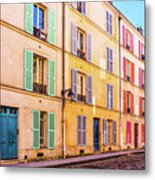 Colorful Street In Paris Metal Print