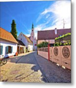 Colorful Street Of Baroque Town Varazdin View Metal Print