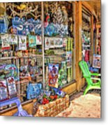 Colorful Streets Of The City Of Stuart Metal Print