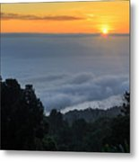 Colorful Sunrise Above The Clouds Metal Print