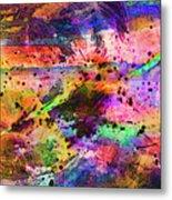 Colorful Sunset Debris  Metal Print