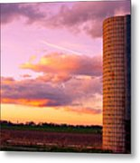 Colorful Sunset In The Country Metal Print