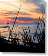 Colorful Sunset On Lake Huron Metal Print by Danielle Allard