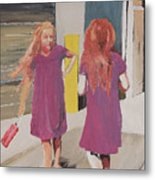 Colorful Twins Metal Print
