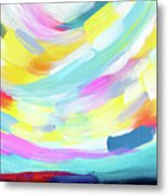 Colorful Uprising 4 - Abstract Art By Linda Woods Metal Print