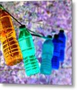 Colorful Water Bottles Metal Print