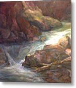 Colorful Water Flow Metal Print