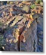 Colorful Wave Of Sandstone In Valley Of Fire State Park Metal Print