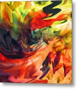 Colorful Waves Metal Print