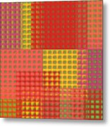 Colorful Weave Metal Print