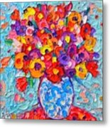 Colorful Wildflowers - Abstract Floral Art By Ana Maria Edulescu Metal Print