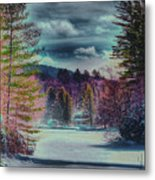 Colorful Winter Wonderland Metal Print