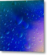 Colorfull Water Drop Background Abstract Metal Print