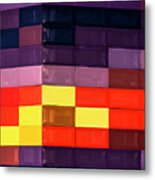 Colorfully Blocked Walls Metal Print