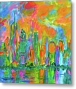 Coloring The Big Apple Stage One Metal Print
