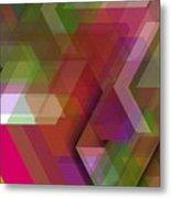 Dark Colorist Geometric Composition Metal Print