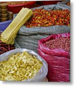 Colors In A Chinese Market Metal Print