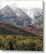 Colors Of Autumn On Mcclure Pass Metal Print