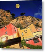 Colors Of Liguria Houses - Facciate Case Colori Di Liguria 3 Metal Print