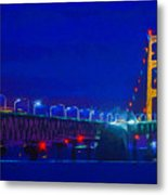 Colors Of Mackinac At Dusk Metal Print