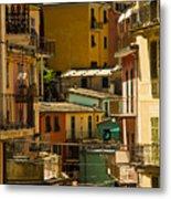 Colors Of Manarola Italy Metal Print